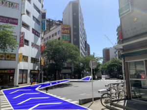 小道には入らず大通り沿いを歩きます